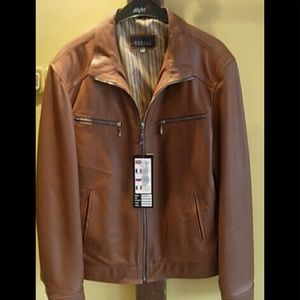 vintage dark brown leather mens jacket size XL by cherokee great condition a2BjWXbx